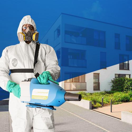 Desinfección conjuntos cerrados y residenciales